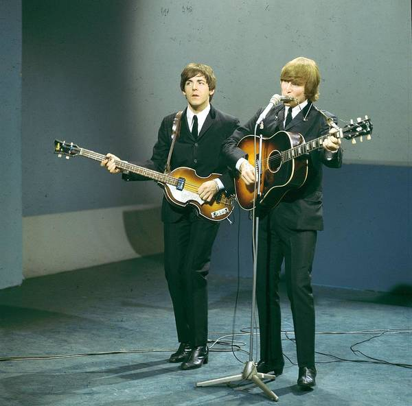 Photograph - Photo Of John Lennon And Paul Mccartney by David Redfern