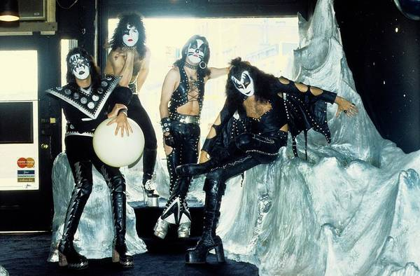 Peter Criss Wall Art - Photograph - Photo Of Kiss And Gene Simmons And Paul by Steve Morley