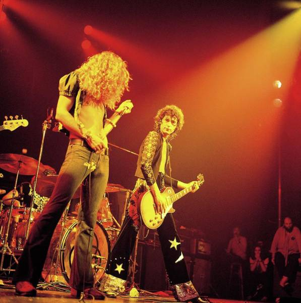 Photograph - Photo Of Led Zeppelin by David Redfern