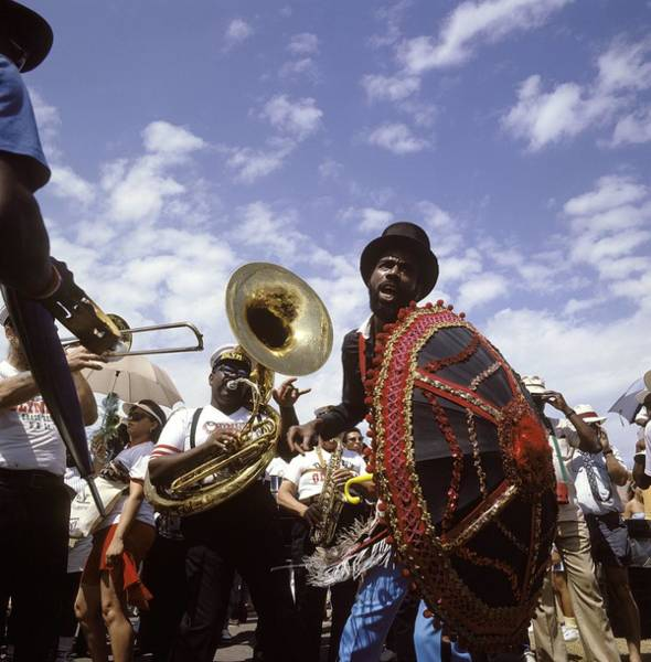 Marching Photograph - Photo Of Marching Band And New Orleans by David Redfern