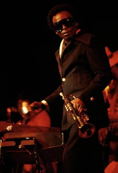 Photograph - Photo Of Miles Davis by Steve Morley