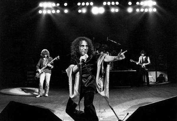 Horizontal Photograph - Photo Of Ronnie Dio And Black Sabbath by Fin Costello