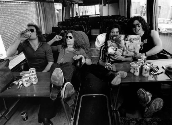 Lager Photograph - Photo Of Van Halen And Alex Van Halen by Fin Costello