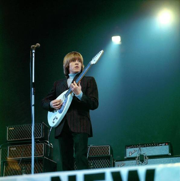 Guitarists Photograph - Photo Of Vox Guitars And Brian Jones by David Redfern
