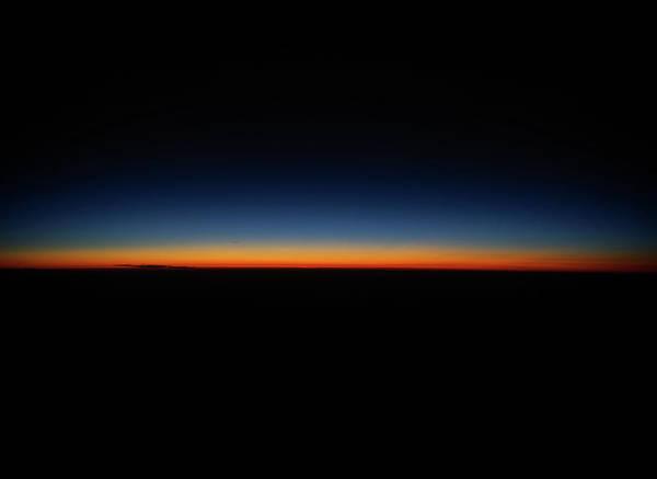 Nebraska Landscape Photograph - Photograph Of A Sunset At 35,000 Feet by David Teter