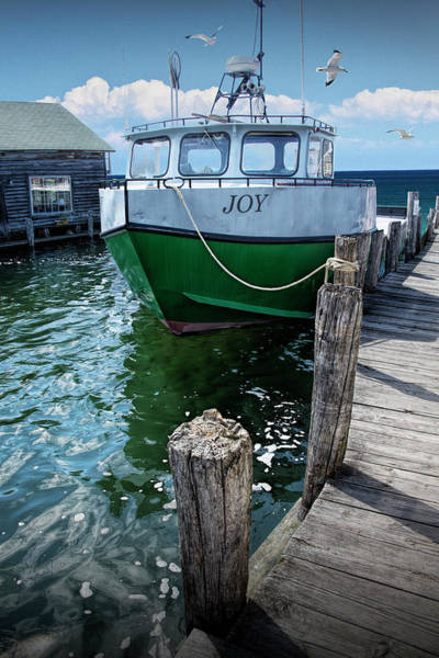 Photograph - Photograph Of The Boat Joy At Fishtown In Leland Michigan by Randall Nyhof