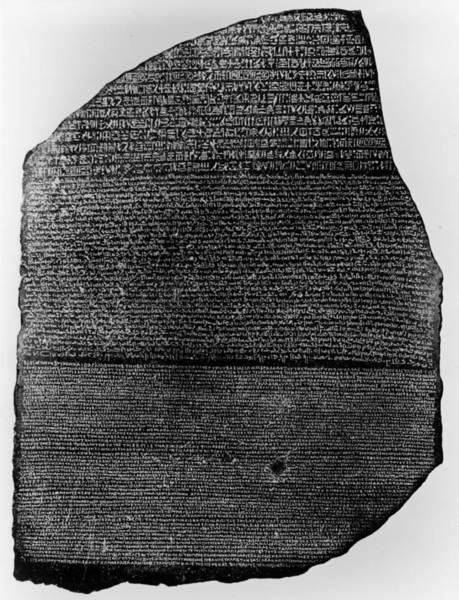 Ancient Greek Photograph - Photograph Of The Rosetta Stone by Hulton Archive
