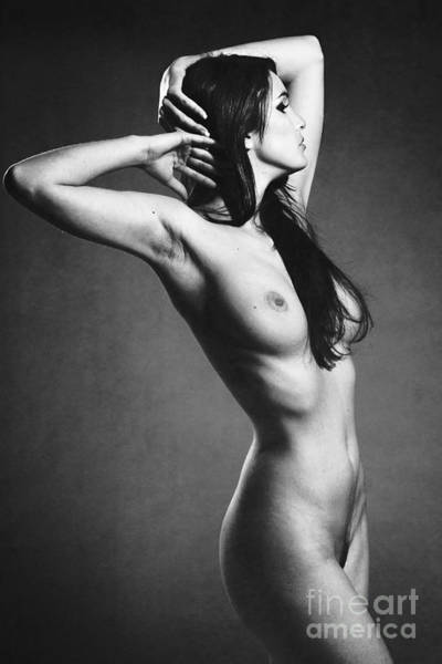 Photograph - Photograph Vintage Look Nude Woman by William Langeveld