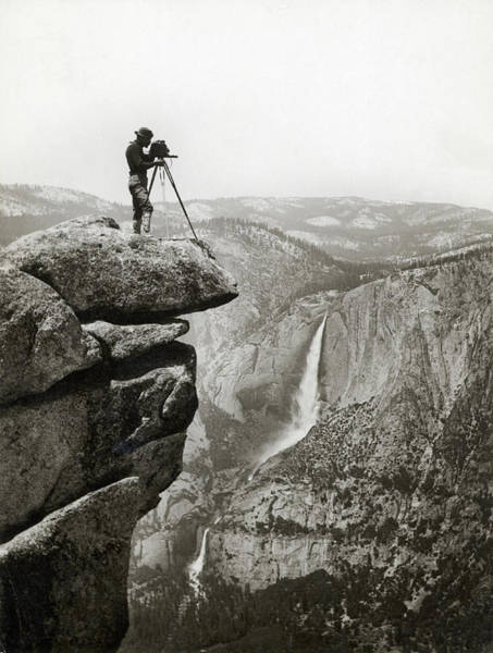 Photograph - Photographer In Yosemite Valley by Bettmann