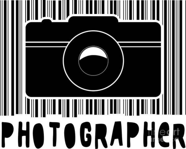Barcode Digital Art - Photographer by Roman Pol