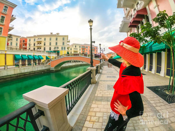 Photograph - Photographer Woman In Venice Doha by Benny Marty