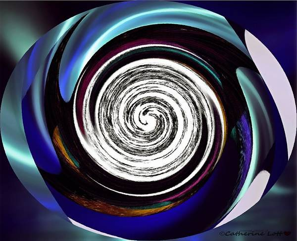 Painting - Photoimpressed Whirl5 by Catherine Lott
