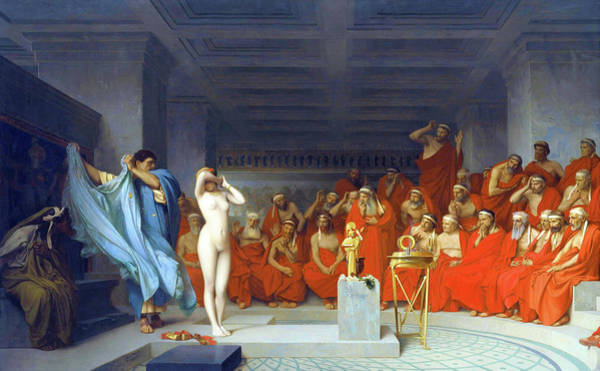 Wall Art - Painting - Phryne Before The Areopagus - Digital Remastered Edition by Jean-Leon Gerome