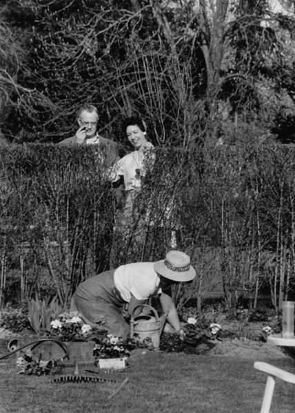 Husband Photograph - Phyllis Mcginley & Family by Nina Leen