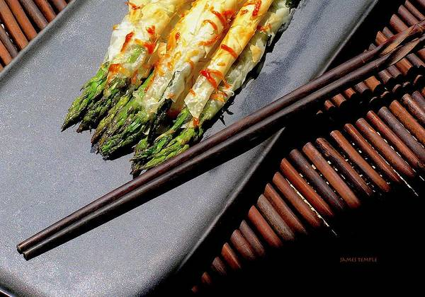 Wall Art - Photograph - Phyllo Asparagus Blankets by James Temple