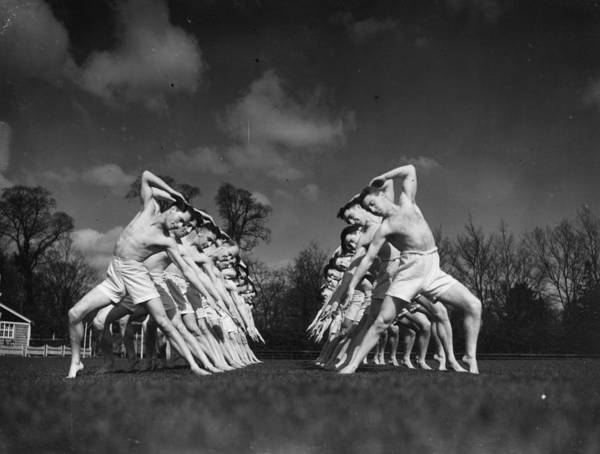 Education Photograph - Physical Training by H. F. Davis