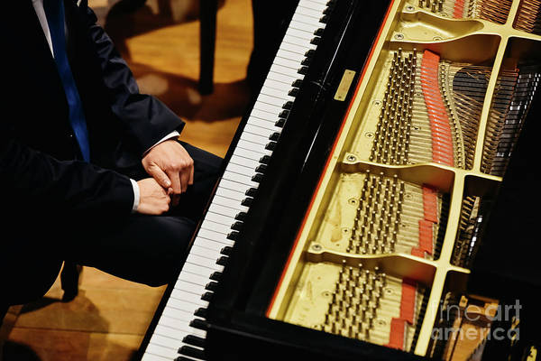 Photograph - Pianist And Piano From Above. by Joaquin Corbalan