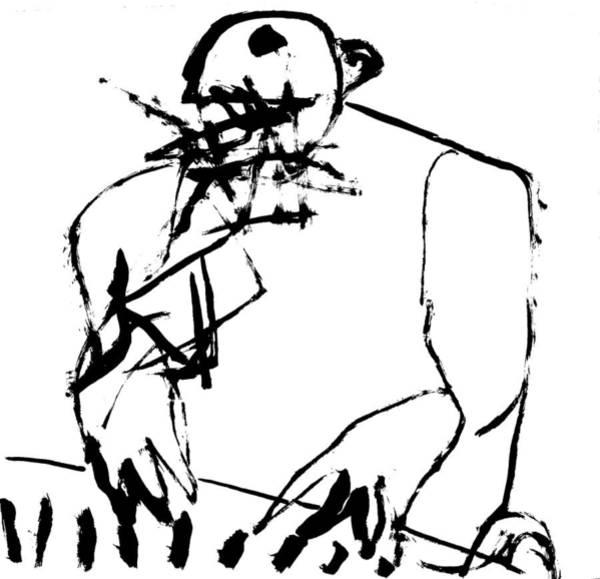 Wall Art - Drawing - Pianist by Artist Dot