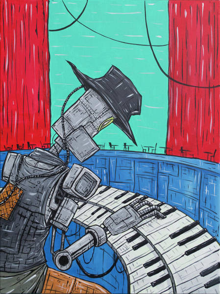 Wall Art - Painting - Pianist Soundcheck by Chase Fleischman