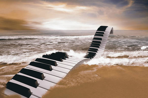 Passionate Digital Art - Piano Fantasy by Mihaela Pater