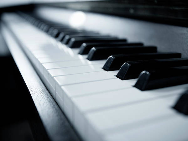 Piano Photograph - Piano Keyboard by Adam Gault