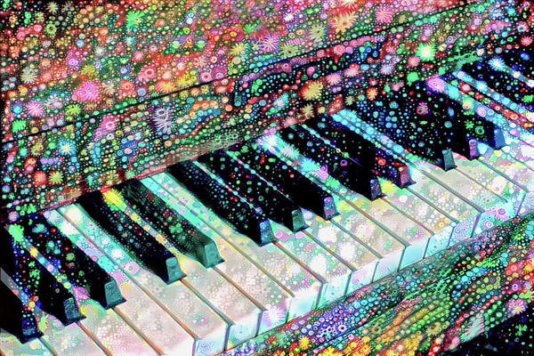 Mixed Media - Piano Keyboard - Play That Funky Music by Peggy Collins
