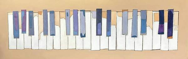Wall Art - Painting - Piano Keyboard by Tom Gimm