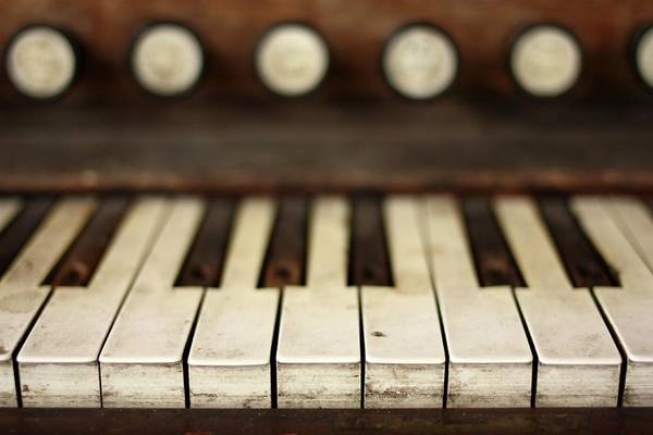 Piano Photograph - Piano Keys by Allison Mcd Photography