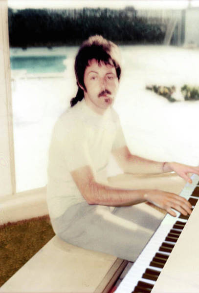 Wall Art - Photograph - Piano Man Paul Mccartney  by Iconic Images Art Gallery David Pucciarelli