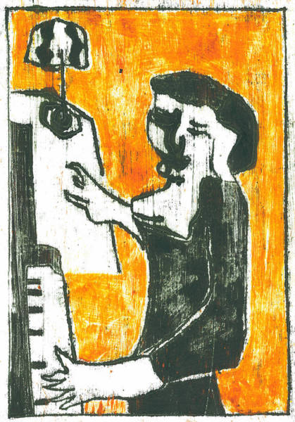 Drawing - Piano Player by Artist Dot