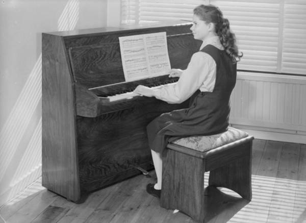Sheet Music Photograph - Piano Practice by Chaloner Woods