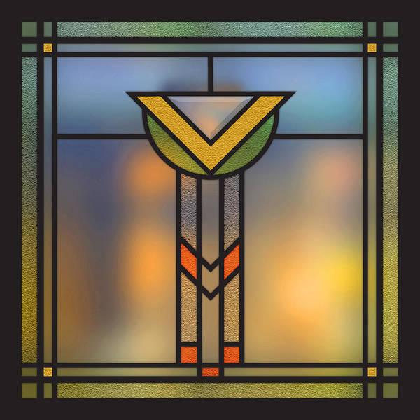 Stained Glass Digital Art - Piano Window 17 by Geoff Strehlow