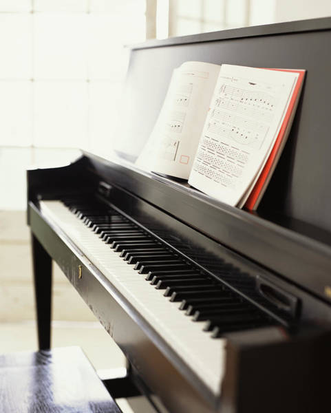 Piano Photograph - Piano With Sheet Music by James Baigrie