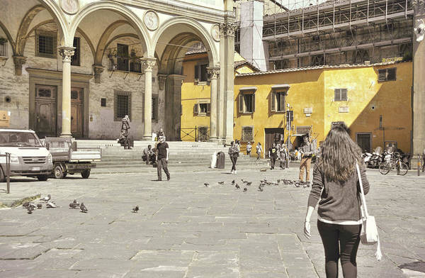 Photograph - Piazza Annunziata by JAMART Photography
