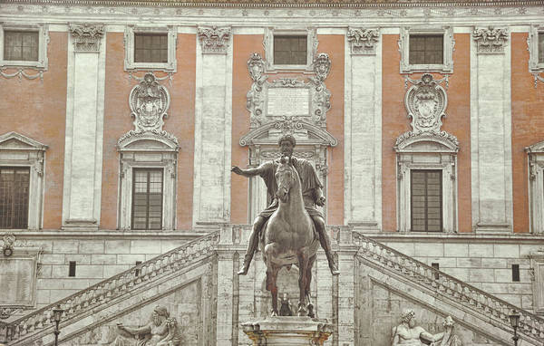 Photograph - Piazza Del Campidoglio by JAMART Photography