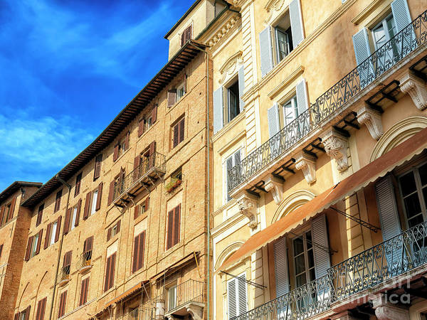 Photograph - Piazza Del Campo Architecture In Siena by John Rizzuto