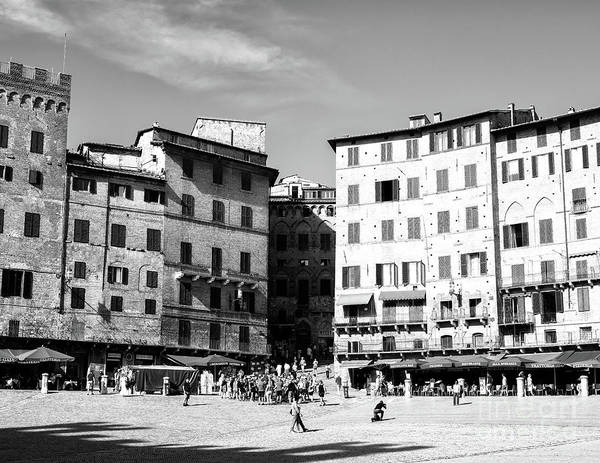 Photograph - Piazza Del Campo Days In Siena by John Rizzuto