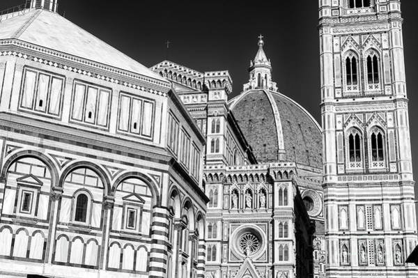 Photograph - Piazza Del Duomo Sites In Florence by John Rizzuto