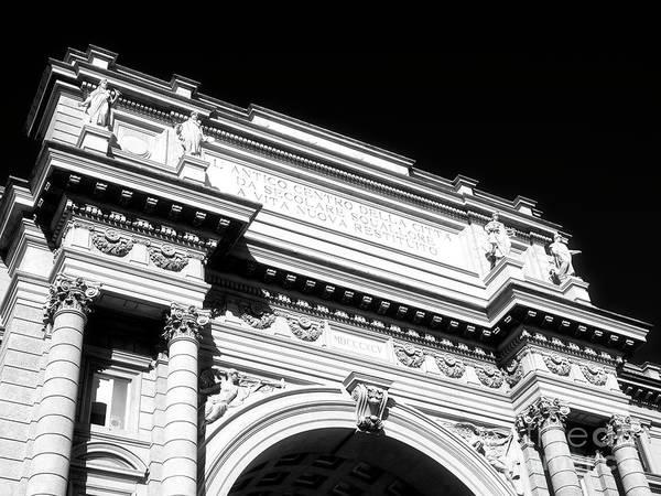 Photograph - Piazza Della Repubblica Arcone In Florence by John Rizzuto