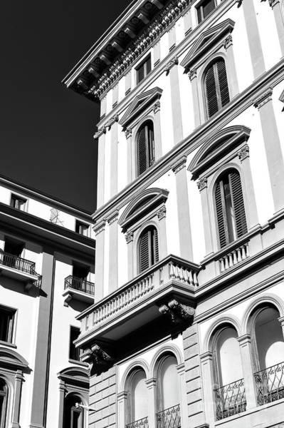 Photograph - Piazza Della Repubblica Building Lines In Florence by John Rizzuto