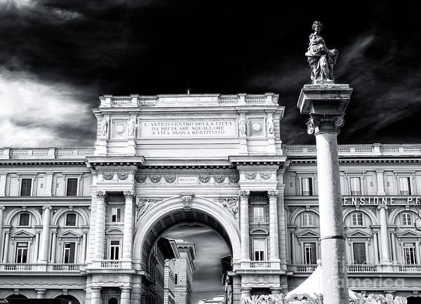 Photograph - Piazza Della Repubblica Glory In Florence by John Rizzuto