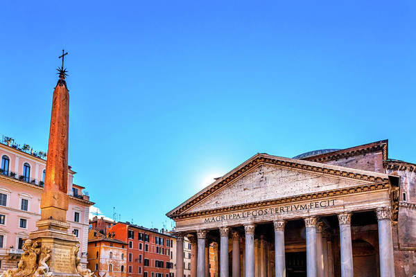 Wall Art - Photograph - Piazza Della Rotonda, Pantheon by William Perry