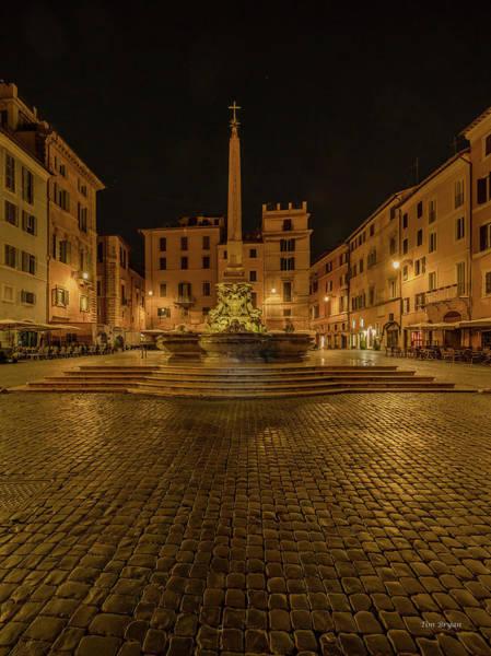 Photograph - Piazza Della Rotonda- Rome by Tim Bryan