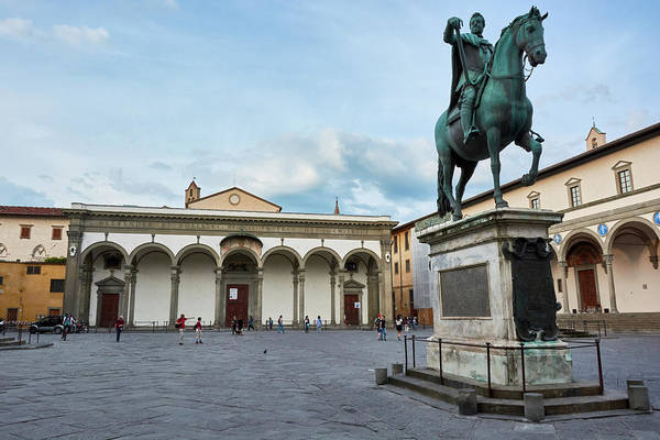 Photograph - Piazza In Firenze, Italy by Fine Art Photography Prints By Eduardo Accorinti