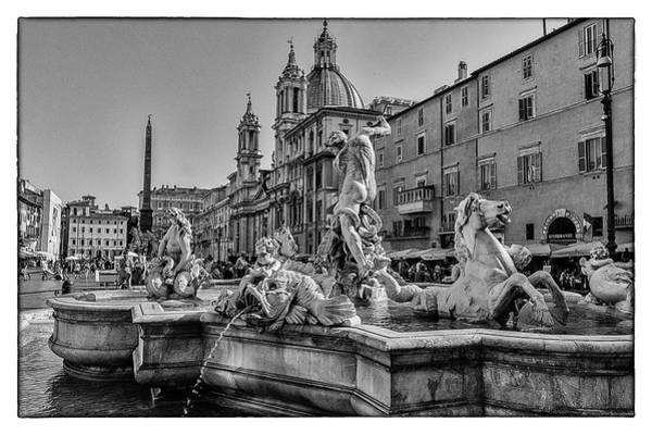 Photograph - Piazza Navona In Rome by Wolfgang Stocker
