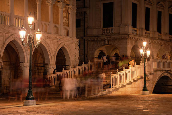 Wall Art - Photograph - Piazza San Marco At Night by Svetlana Sewell