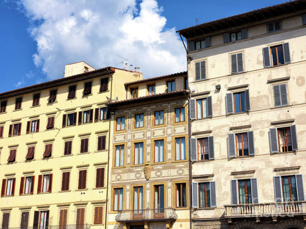 Photograph - Piazza Santa Maria Novella Building Colors In Florence by John Rizzuto