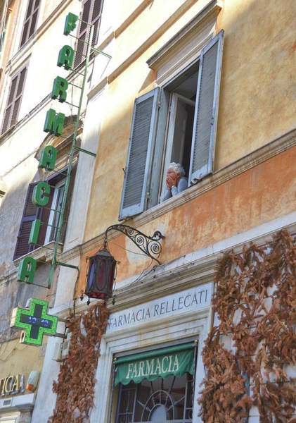 Photograph - Piazza Watching by JAMART Photography