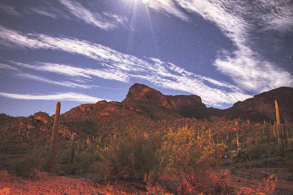 Photograph - Picacho Peak Moonlight by Chance Kafka