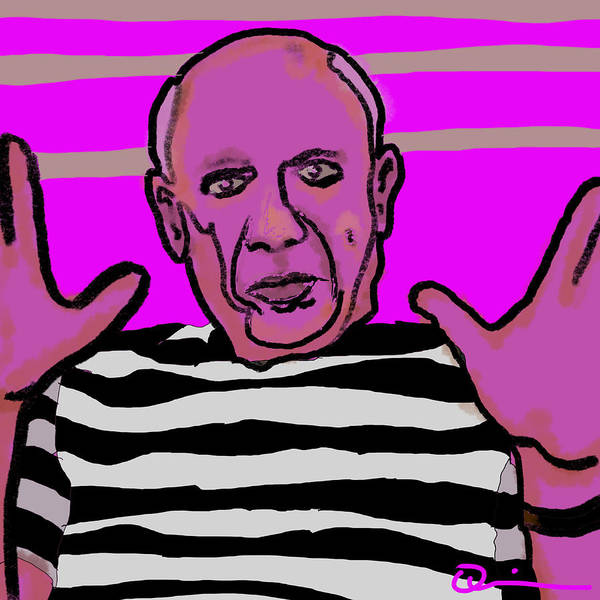 Digital Art - Picasso by Jeff Quiros